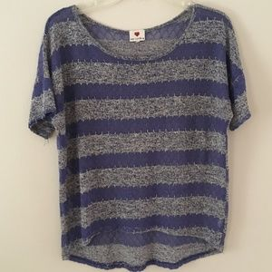 One Clothing sheer knit top sz M